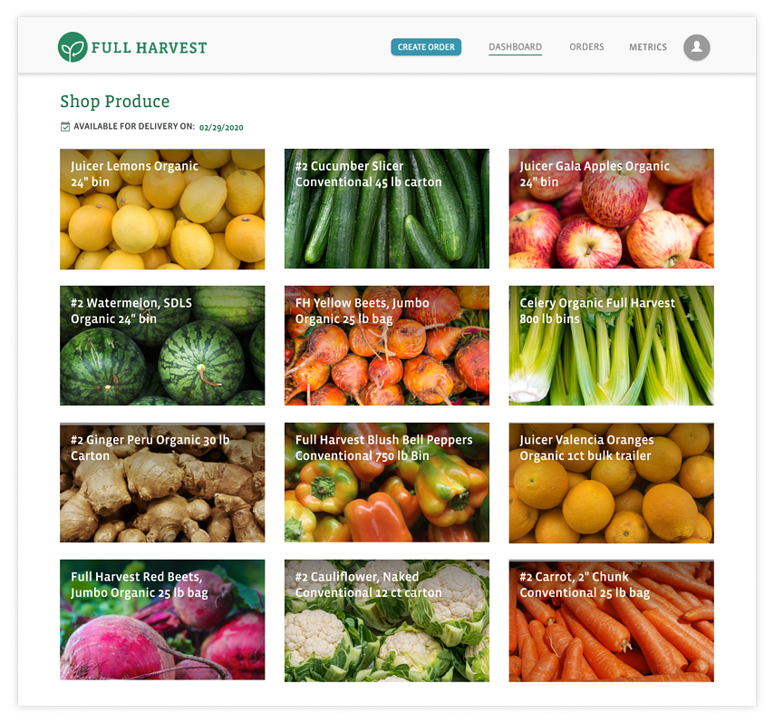 Marketplace mockup for homepage with shadow-1