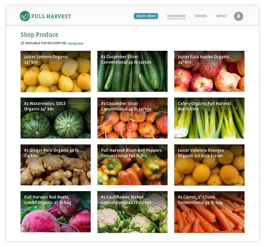 Marketplace mockup for homepage with shadow